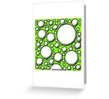 Green Mushroom Design  Greeting Card