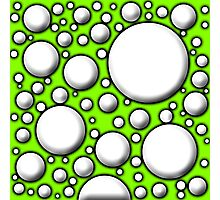 Green Mushroom Design  Photographic Print
