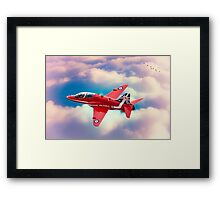 "RAF ""Red Arrows"" Hawk Framed Print"
