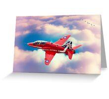 """RAF """"Red Arrows"""" Hawk Greeting Card"""