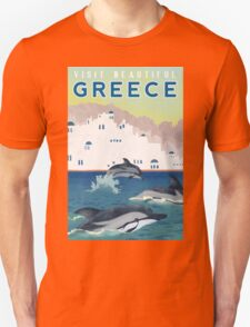 Greece Travel Poster T-Shirt