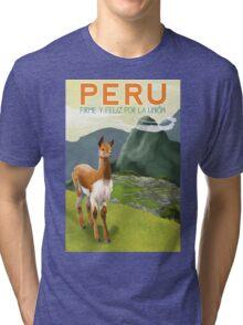 Peru Travel Poster Tri-blend T-Shirt