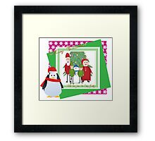 With Love from the Claus Family Framed Print