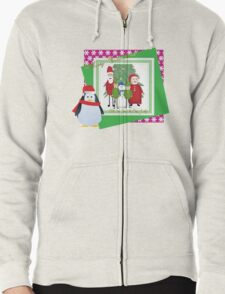 With Love from the Claus Family Zipped Hoodie