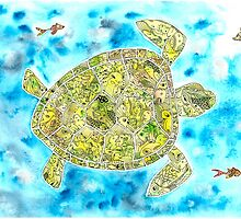 Take Your Time Little Turtle (in the blue) by NemosPequenos