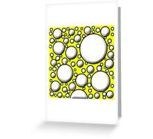 Yellow Mushroom Design Greeting Card