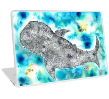 Whale be alright (in the blue) Laptop Skin
