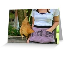 Snackish Hen Greeting Card