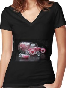Coeur Boncon Women's Fitted V-Neck T-Shirt