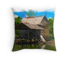 fishing hut 1 Throw Pillow