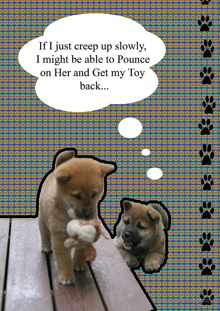 Shiba Inu Puppies by Persephoni