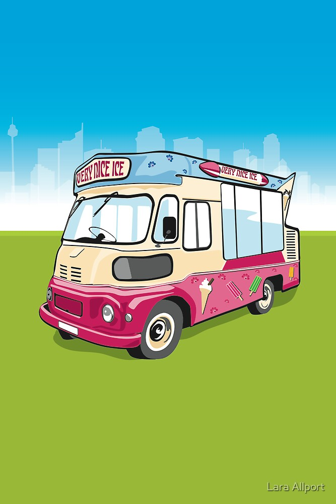 ice cream van by Lara Allport