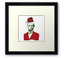 Merry Christmas, Abe! Framed Print