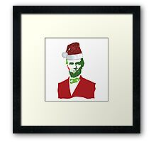 Merry Christmas, Abe! Framed Print