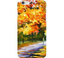 THE PATH OF SUN BEAMS - Leonid Afremov Landscape iPhone Case/Skin