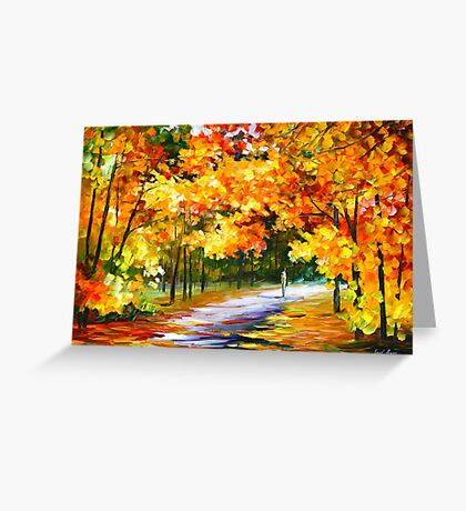 THE PATH OF SUN BEAMS - Leonid Afremov Landscape Greeting Card