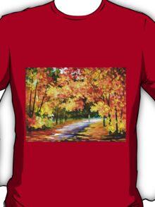 THE PATH OF SUN BEAMS - Leonid Afremov Landscape T-Shirt