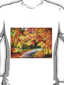 THE PATH OF SUN BEAMS - Leonid Afremov Landscape T-Shirt