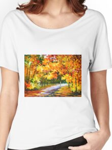 THE PATH OF SUN BEAMS - Leonid Afremov Landscape Women's Relaxed Fit T-Shirt
