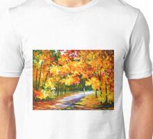 THE PATH OF SUN BEAMS - Leonid Afremov Landscape Unisex T-Shirt