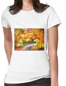 THE PATH OF SUN BEAMS - Leonid Afremov Landscape Womens Fitted T-Shirt