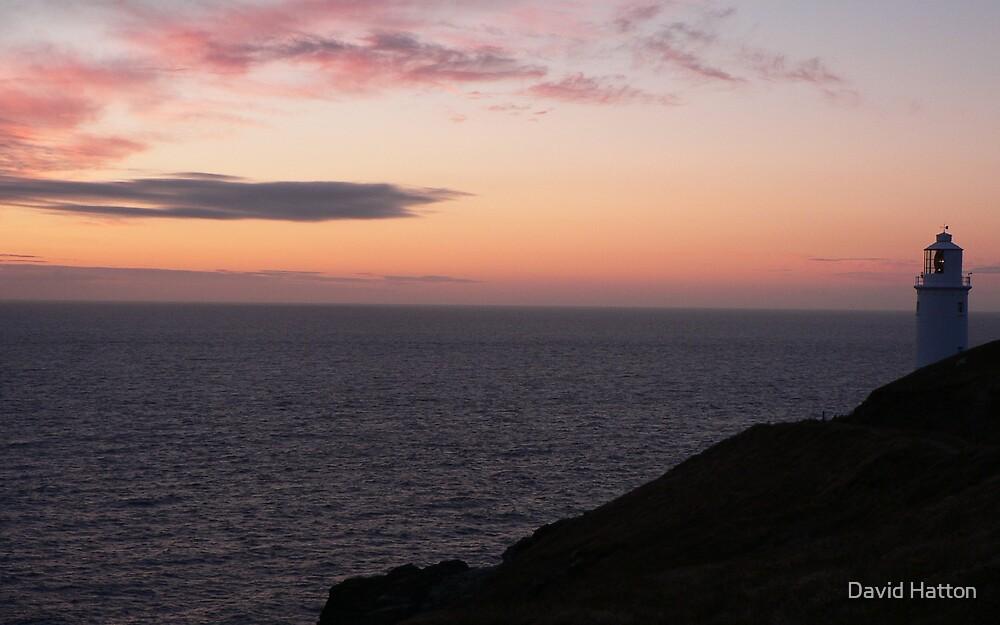 Dusk, Trevose Head, Cornwall by David Hatton