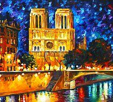 NOTRE DAME DE PARIS - Leonid Afremov CITYSCAPE by Leonid Afremov