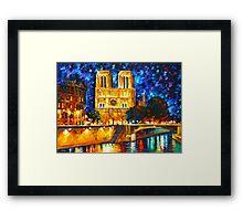 NOTRE DAME DE PARIS - Leonid Afremov CITYSCAPE Framed Print