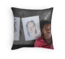 artist and artwork Throw Pillow
