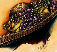 Hat with Fruit by julieannart