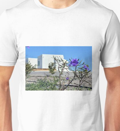White minimalist building from Santorini  Greece Unisex T-Shirt
