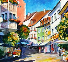 Sunny Germany - Leonid Afremov by Leonid Afremov