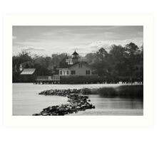 Manteo Lighthouse Black & White Art Print