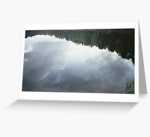 Clouds in Water Greeting Card