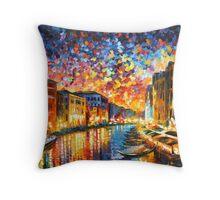 VENICE - GRAND CANAL - Leonid Afremov CITYSCAPE Throw Pillow