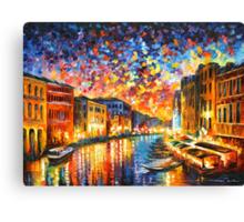 VENICE - GRAND CANAL - Leonid Afremov CITYSCAPE Canvas Print