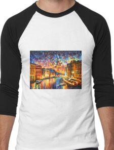 VENICE - GRAND CANAL - Leonid Afremov CITYSCAPE Men's Baseball ¾ T-Shirt