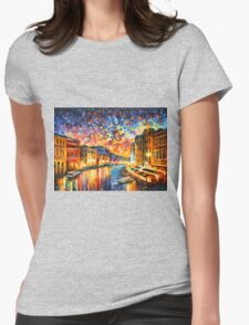 VENICE - GRAND CANAL - Leonid Afremov CITYSCAPE Womens Fitted T-Shirt