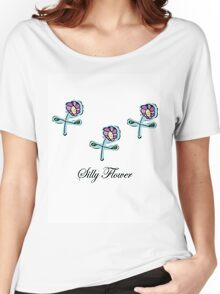 Silly Flower Women's Relaxed Fit T-Shirt