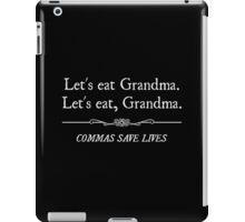 Let's Eat Grandma Commas Save Lives iPad Case/Skin