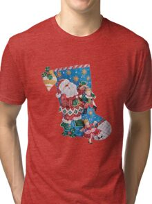 Santa's the Master Puppeteer Tri-blend T-Shirt