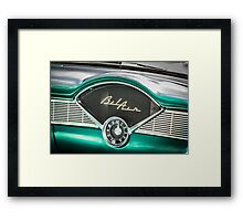 Old Chevy Dash Framed Print
