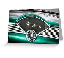 Old Chevy Dash Greeting Card