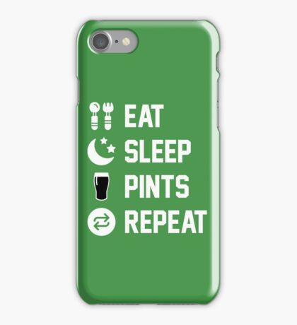 Eat. Sleep. Pints. Repeat iPhone Case/Skin