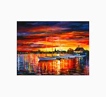 HELSINKI - SAILBOATS AT YACHT CLUB - Leonid Afremov CITYSCAPE Unisex T-Shirt