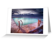 Mona Vale Pool Greeting Card