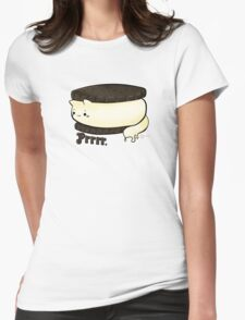 Cats food - Ice Cream Sandwich Womens Fitted T-Shirt