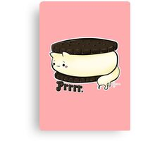 Cats food - Ice Cream Sandwich Canvas Print