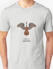 Winged Cello Ascend Design Unisex T-Shirt