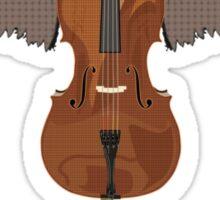 Winged Cello Ascend Design Sticker